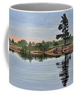 Coffee Mug featuring the painting Reflection On The Bay by Kenneth M Kirsch