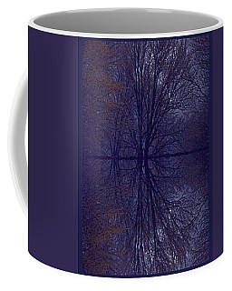 Coffee Mug featuring the photograph Reflection On Trees In The Dark by Joy Nichols