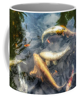 Reflections And Fish 2 Coffee Mug by Isabella F Abbie Shores FRSA