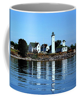 Reflections At Tibbetts Point Lighthouse Coffee Mug