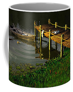 Reflections In A Restless Pond Coffee Mug