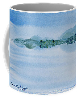 Reflection Of Mt Rugby In Bathurst Harbour Coffee Mug