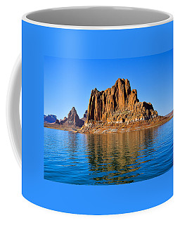 Coffee Mug featuring the photograph Lake Powell Reflections by Dany Lison