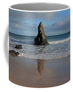 Coffee Mug featuring the photograph Reflections In Sand On Sango Bay by Maria Gaellman