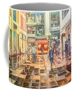 Reflections In The Pavement, Brown Street, Manchester Coffee Mug