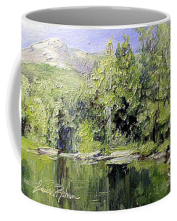 Coffee Mug featuring the painting Reflections by Laurie Rohner
