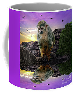 Reflections Of A Squirrel Monkey Coffee Mug by Rob Sellers