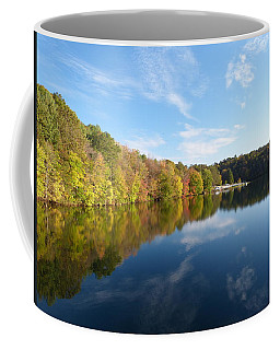 Coffee Mug featuring the photograph Reflections Of Autumn by Donald C Morgan