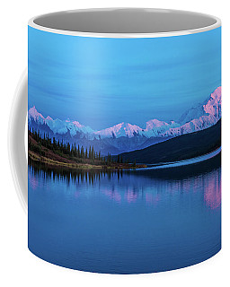 Sunset Reflections Of Denali In Wonder Lake Coffee Mug