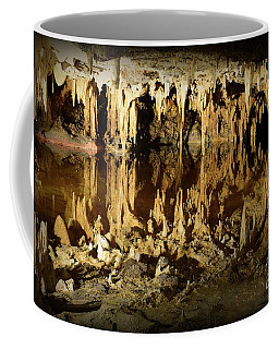 Coffee Mug featuring the photograph Reflections Of Dream Lake At Luray Caverns by Paul Ward