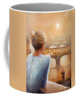 Coffee Mug featuring the painting Reflections Of Florence by Michael Rock