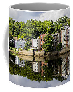 Reflections Of Haverhill On The Merrimack River Coffee Mug