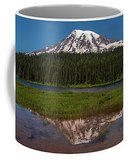 Reflections Of Mount Rainier Coffee Mug by Brenda Jacobs