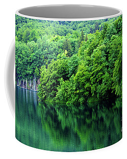 Reflections Of Plitvice, Plitvice Lakes National Park, Croatia Coffee Mug