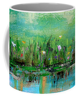 Coffee Mug featuring the photograph Reflections Of Spring by Haleh Mahbod