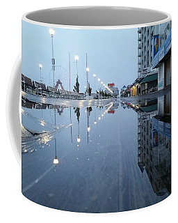 Coffee Mug featuring the photograph Reflections Of The Boardwalk by Robert Banach