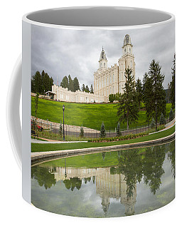 Reflections Of The Manti Temple At Pioneer Heritage Gardens Coffee Mug