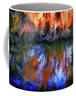 Coffee Mug featuring the photograph Reflections On A Small Pond by Mick Anderson