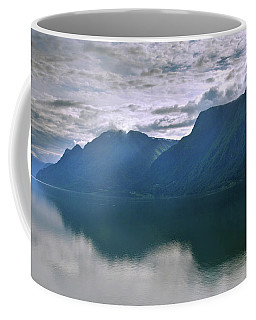 Reflections On Sognefjorden Coffee Mug by Terence Davis