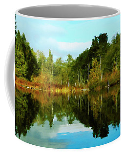 Coffee Mug featuring the digital art Reflections by Timothy Hack
