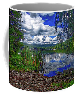 Coffee Mug featuring the painting Reflective Lake by Joan Reese