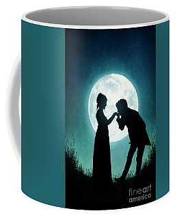 Regency Couple Silhouetted By The Full Moon Coffee Mug by Lee Avison