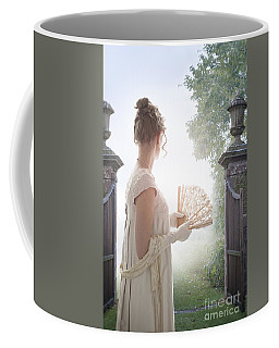 Regency Woman Looking Through A Gateway Coffee Mug by Lee Avison