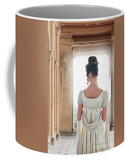 Regency Woman Under A Colonnade Coffee Mug by Lee Avison