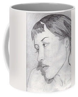 Coffee Mug featuring the drawing Regret by Jean Haynes