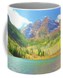 Coffee Mug featuring the photograph The Maroon Bells Reimagined 1 by Eric Glaser
