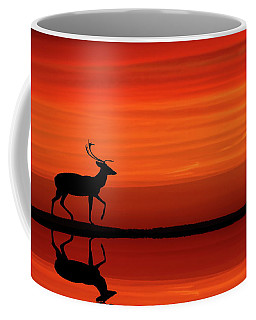Reindeer By Moonlight Coffee Mug