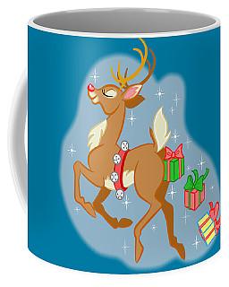 Coffee Mug featuring the digital art Naughty Reindeer by J L Meadows