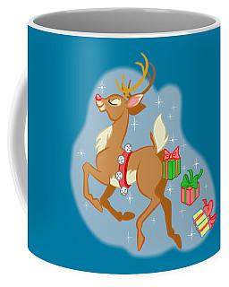 Coffee Mug featuring the digital art Reindeer Gifts by J L Meadows