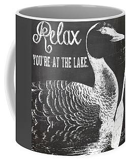 Relax Lake House Duck Sign Coffee Mug