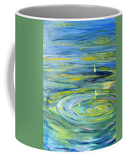 Coffee Mug featuring the painting Relaxation by Evelina Popilian