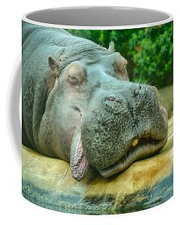 Relaxing Hippo Coffee Mug