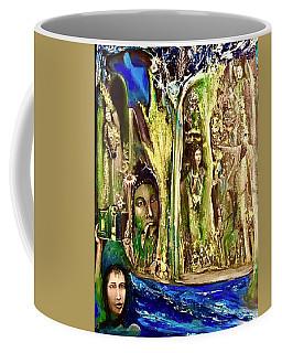 Encounter At The River Coffee Mug