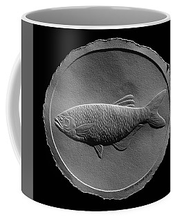 Relief Drawing Of A Freshwater Fish Coffee Mug by Suhas Tavkar