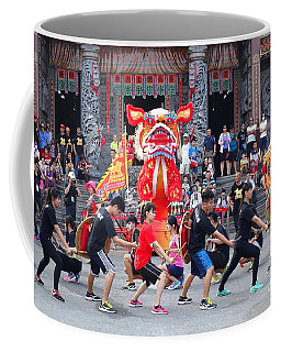 Coffee Mug featuring the photograph Religious Martial Arts Performance In Taiwan by Yali Shi