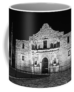 Remembering The Alamo - Black And White Coffee Mug