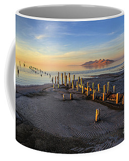 Coffee Mug featuring the photograph Remnants Of Old Saltair by Spencer Baugh