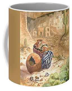 Coffee Mug featuring the painting Remnants Of The Ancient Ones by Marilyn Smith