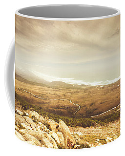 Remote Roads And Foggy Coastlines Coffee Mug