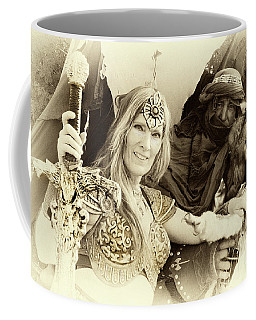 Coffee Mug featuring the photograph Renaissance Festival Barbarians by Bob Christopher