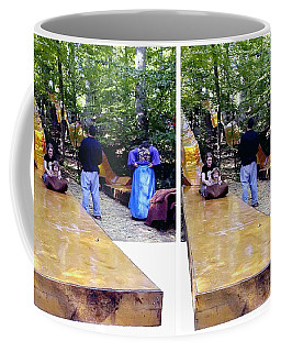 Coffee Mug featuring the photograph Renaissance Slide - Gently Cross Your Eyes And Focus On The Middle Image by Brian Wallace