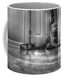 Coffee Mug featuring the photograph Rendezvous Do Not Disturb 05 Bw by Andy Lawless