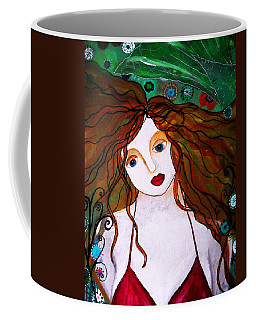 Coffee Mug featuring the painting Rennaissance Mermaid by Pristine Cartera Turkus