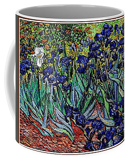 replica of Van Gogh irises Coffee Mug by Pemaro