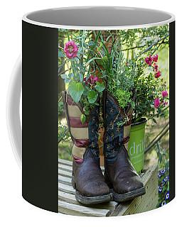 Repurposed Cowboy Boots Coffee Mug