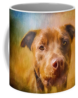 Rescued Chocolate Lab Portrait Coffee Mug